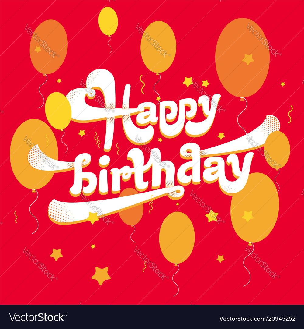 Happy birthday logo vector image