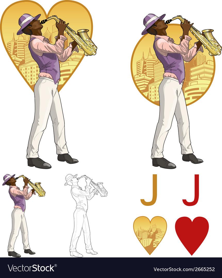 Jack of hearts afroamerican musician Mafia card