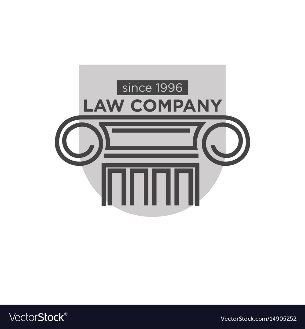 Law company since 1996 logotype with ancient