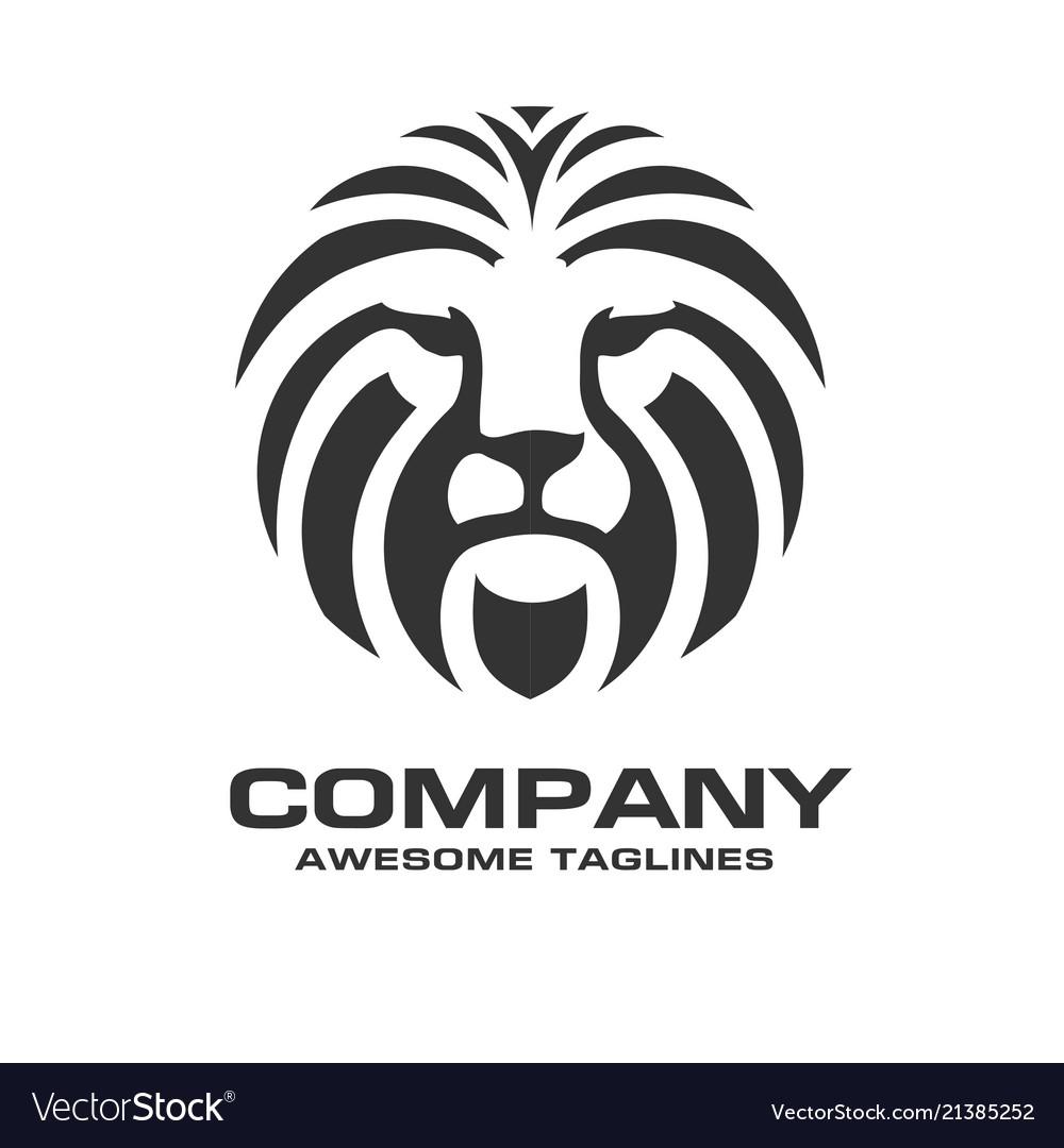 Lion Head Red Color Logo
