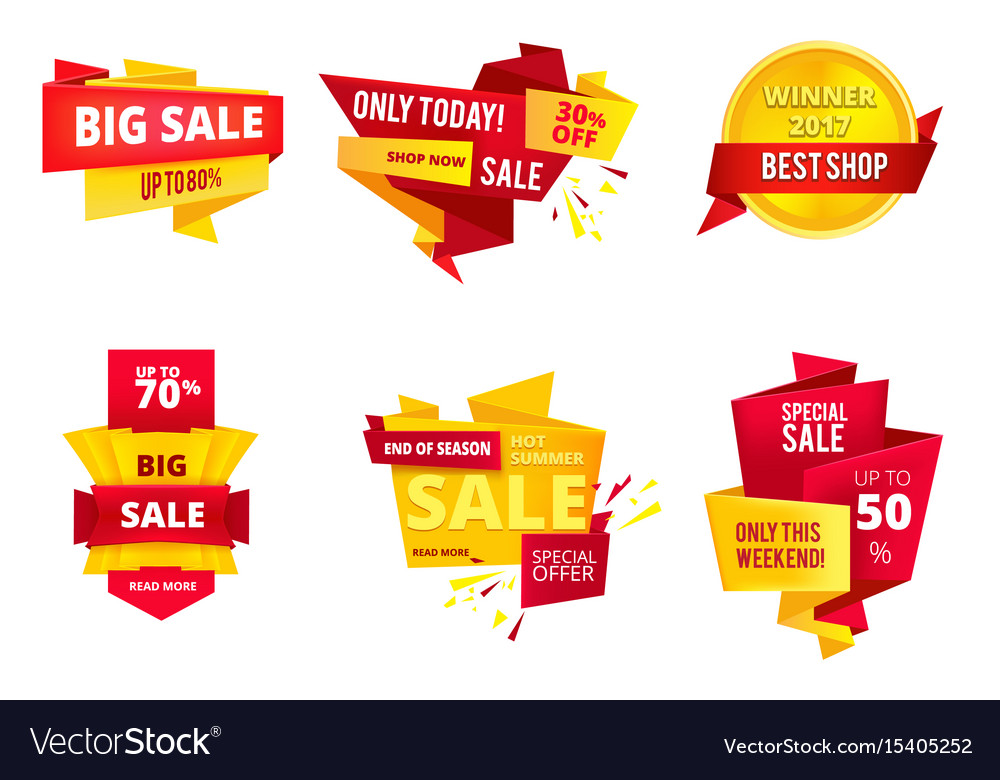 Special offer abstract banners big sales