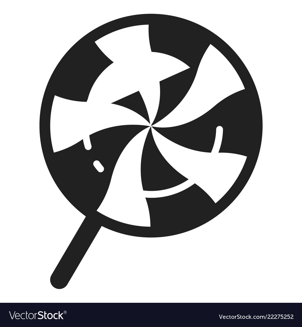 Swirl Candy Lollipop Icon Simple Style Royalty Free Vector
