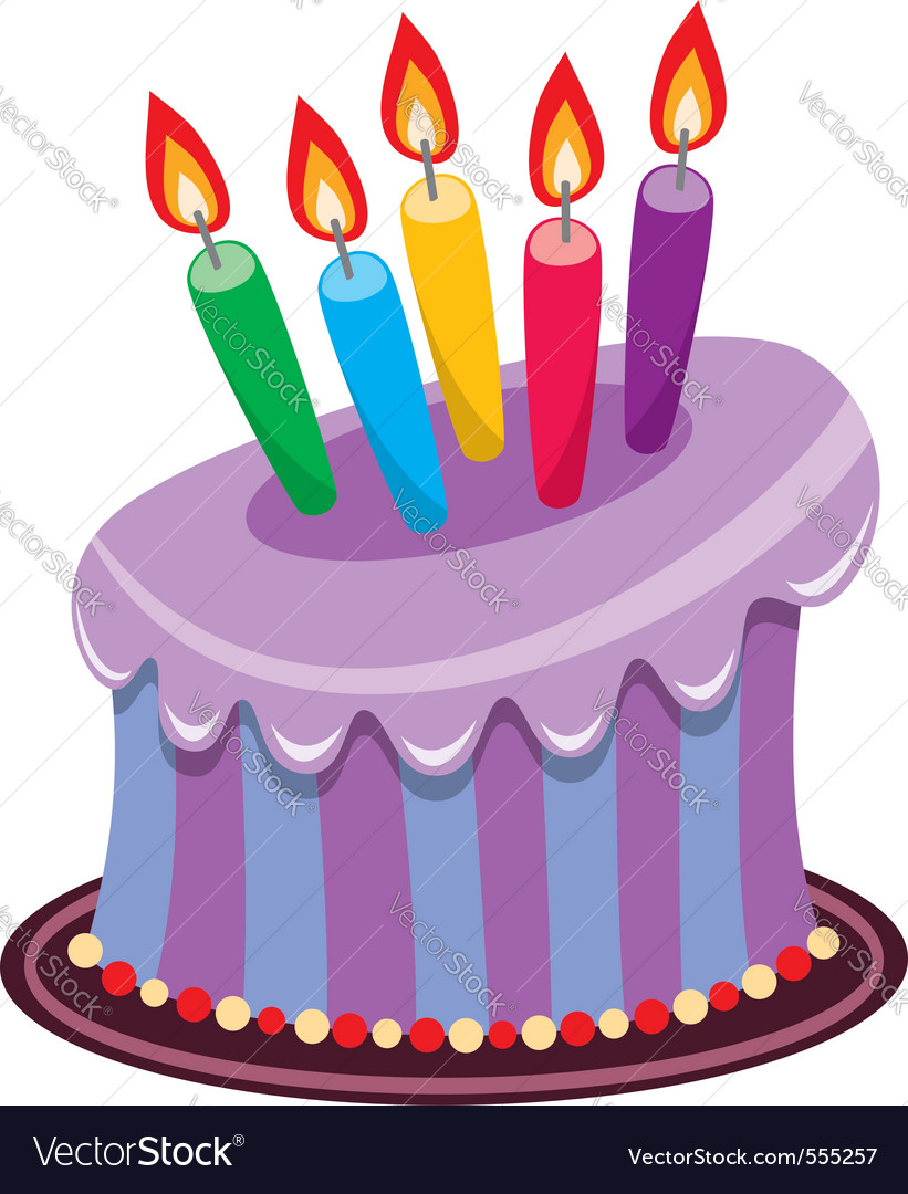 birthday cake royalty free vector image vectorstock rh vectorstock com cake vector png cake vector black and white