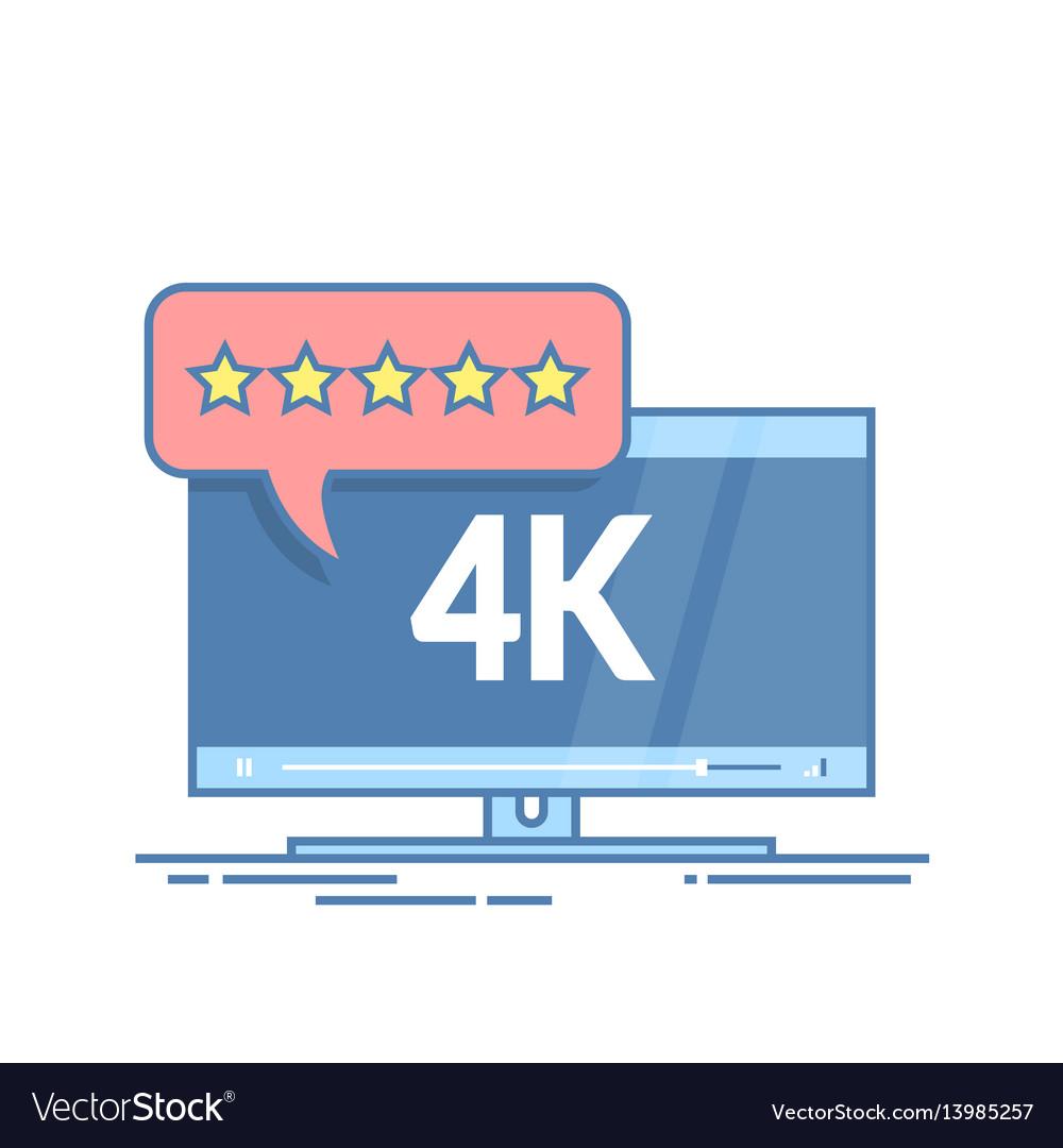 Flat screen tv with 4k ultra hd video technology