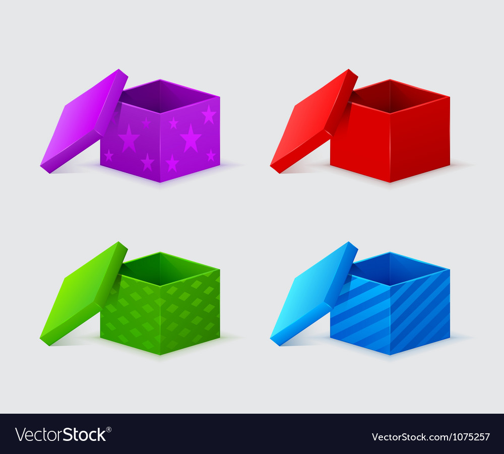 Gift boxes with covers vector image