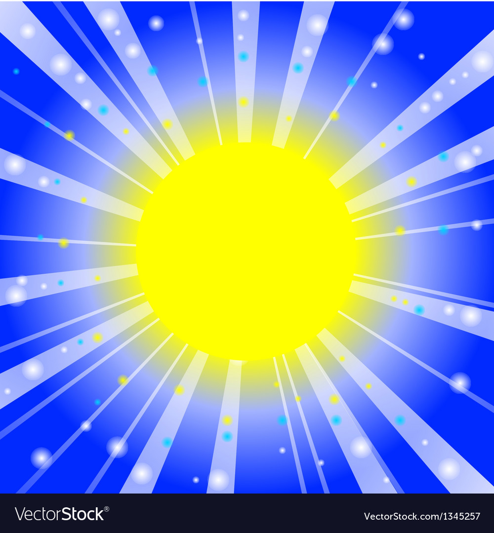 Glow on sky vector image