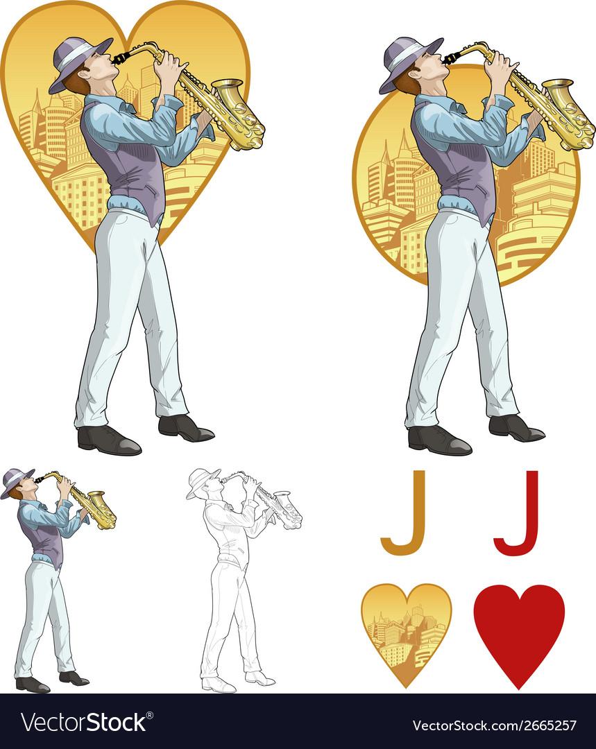Jack of hearts musician Mafia card set