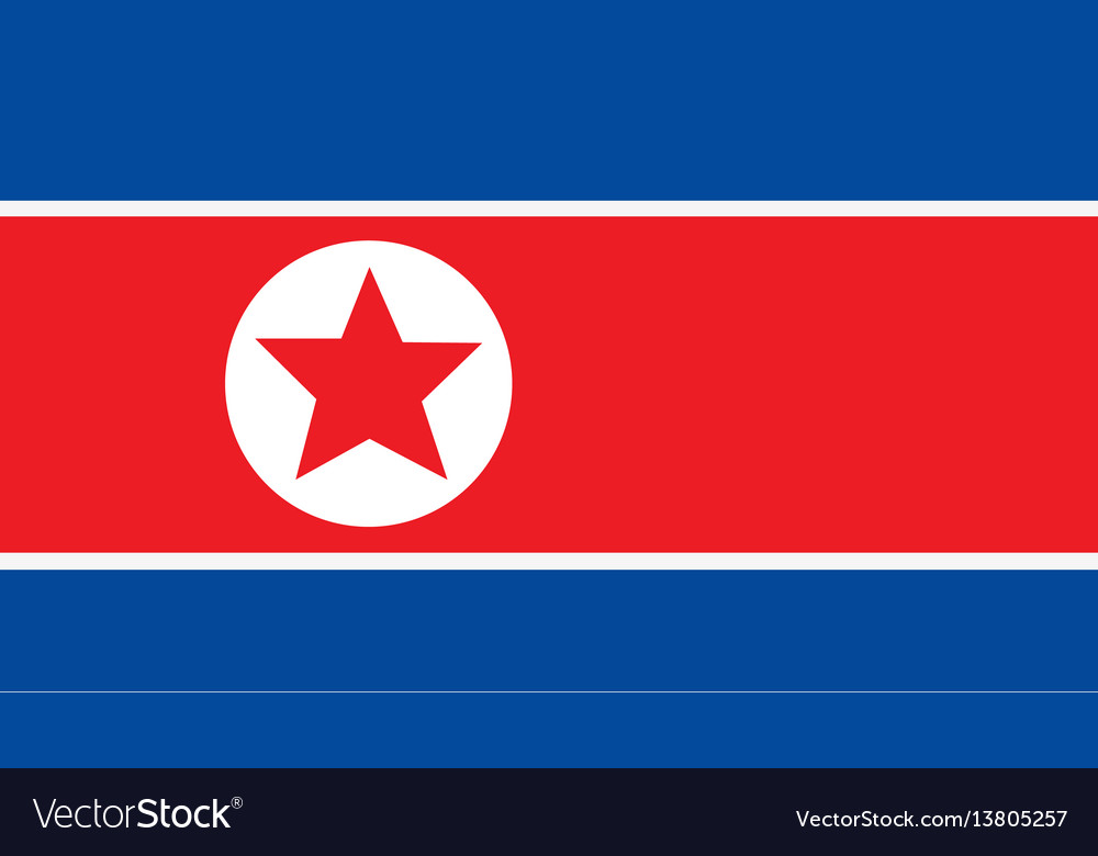 Korea north flag for independence day and