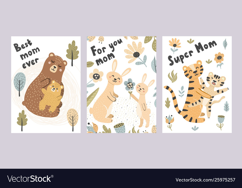 Mothers day cards collection adorable postcards