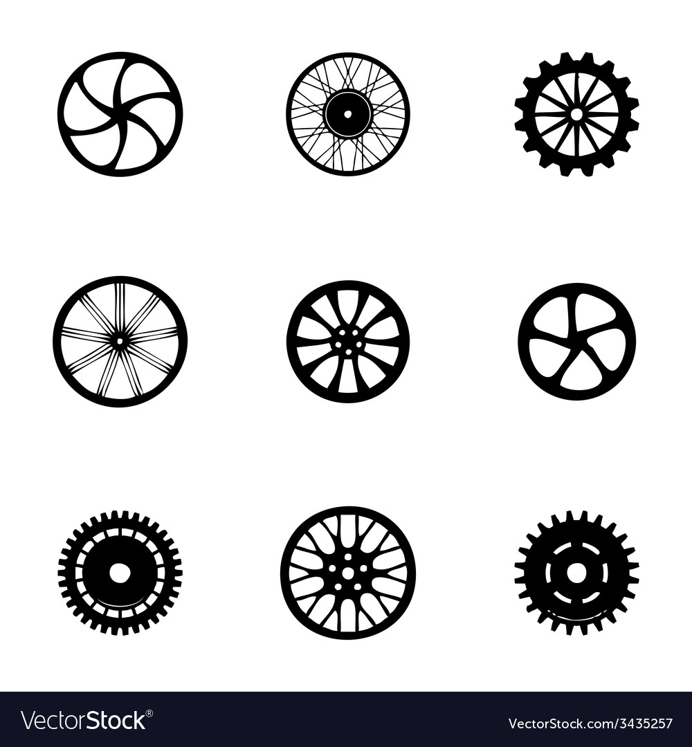 Wheel icon set