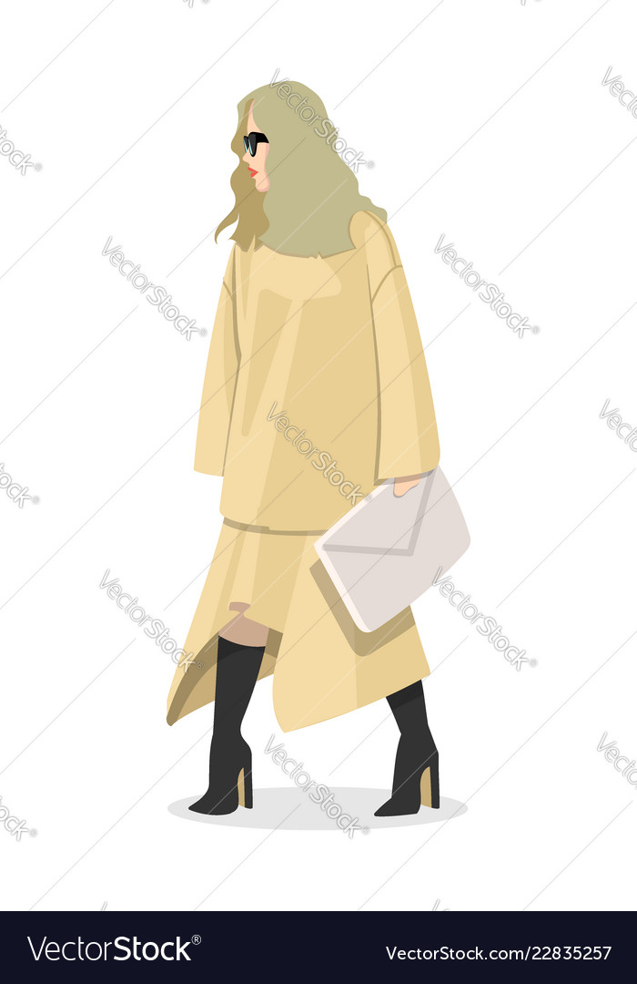 Women dressed in stylish trendy clothes - female