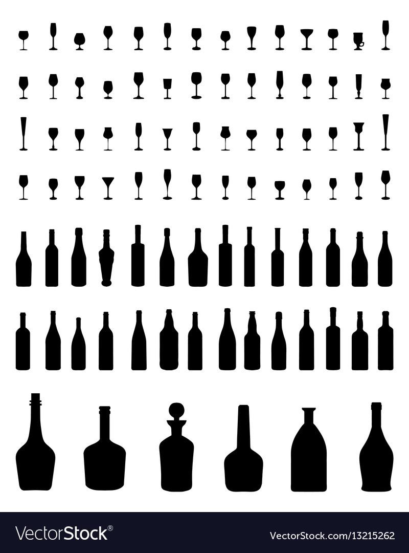 Bowls bottles and glasses