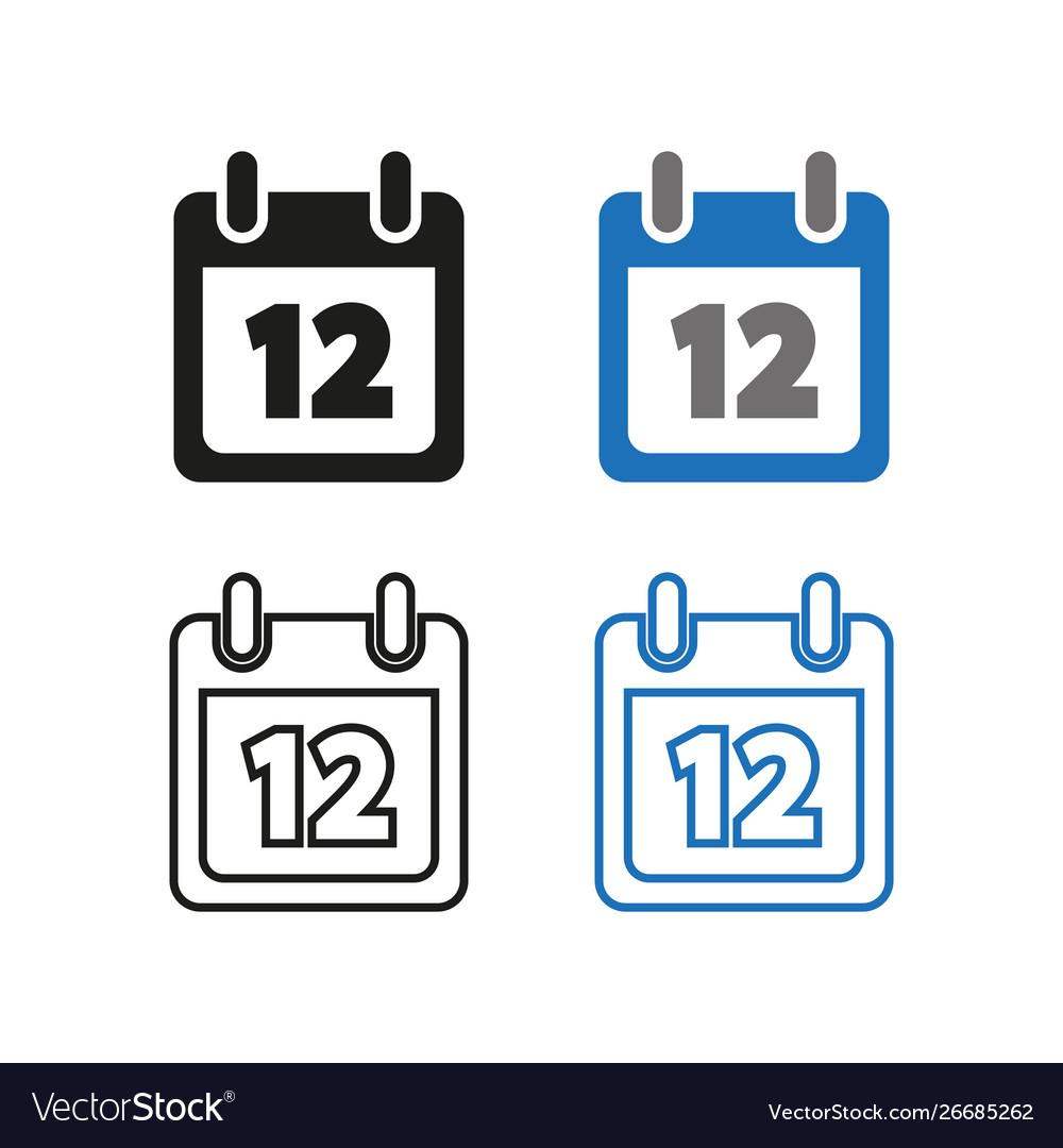 Calendar icon simple