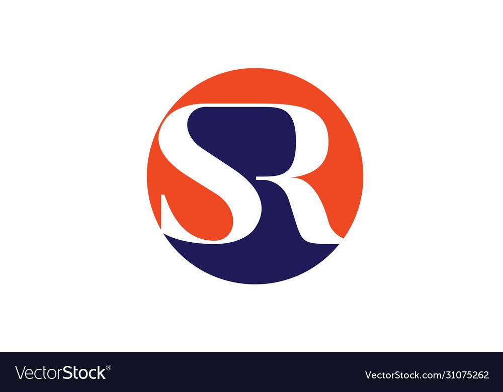 Initial Monogram Letter Sr Logo Design Template Vector Image