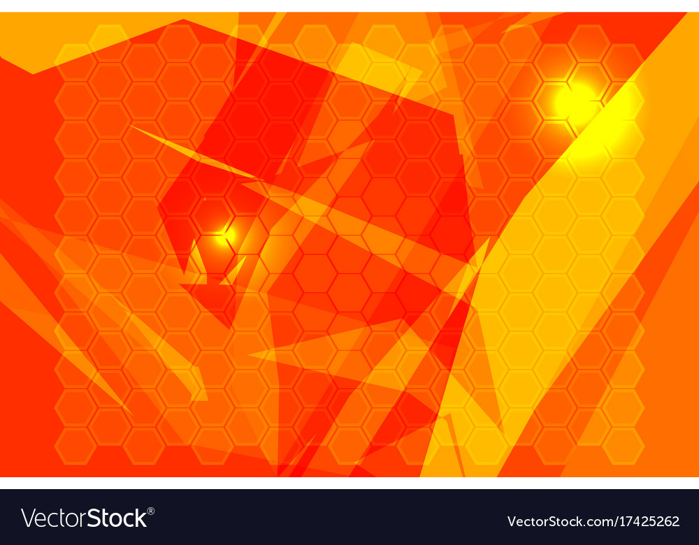 Orange polygon backgrounds