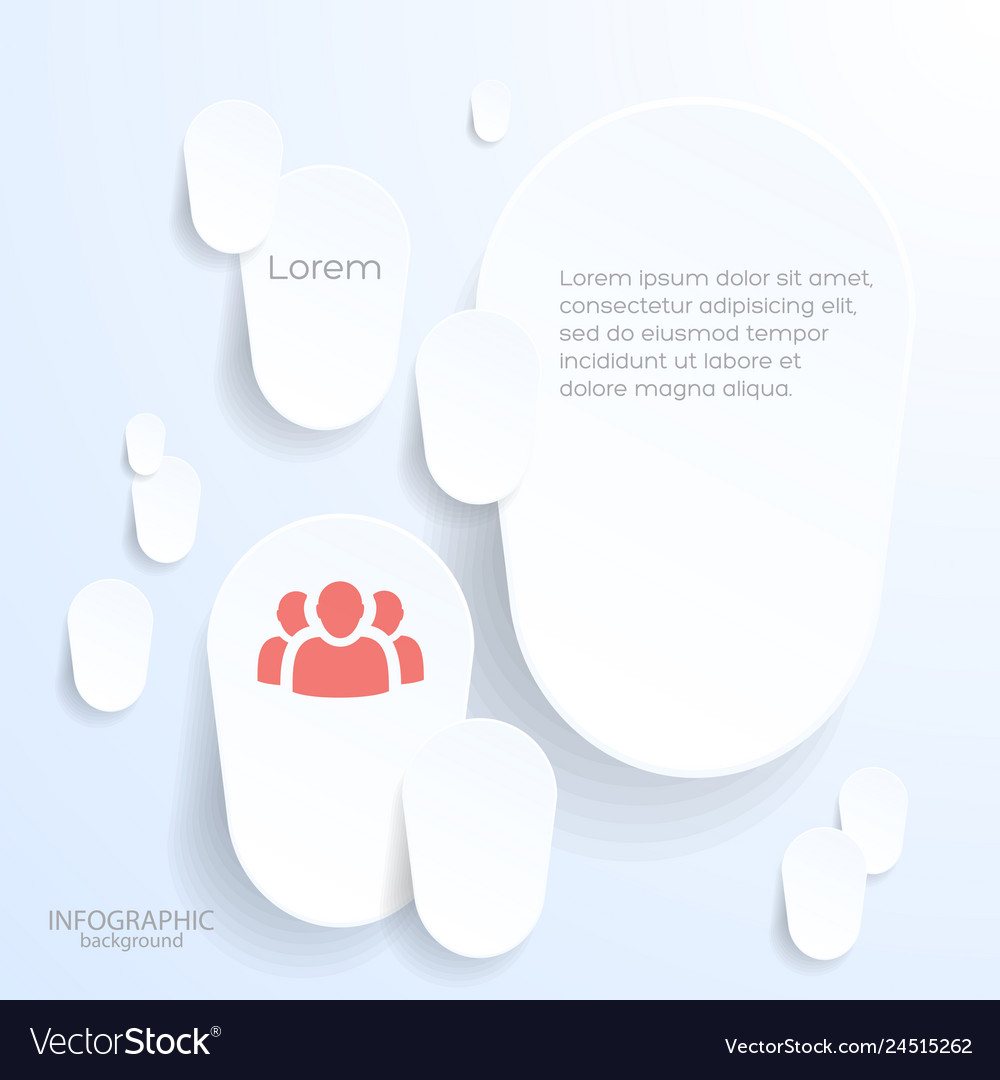 Paper background with white stickers