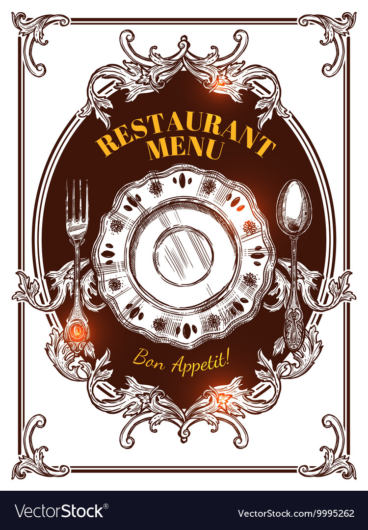 Restaurant Menu Vintage Cover