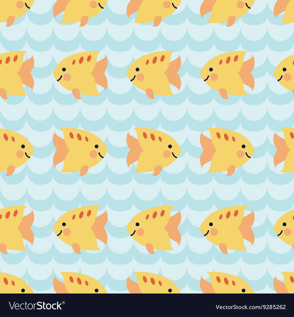 Seamless pattern with flock of cute cartoon