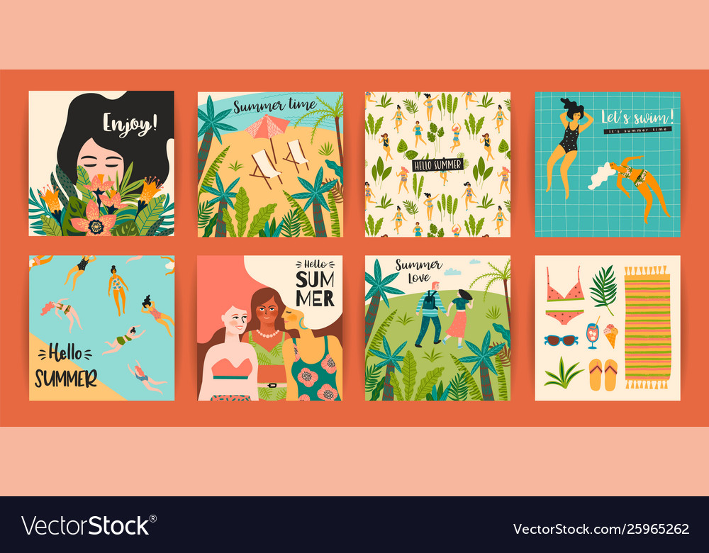 Templates with fun summer