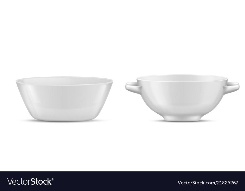 3d realistic porcelain tableware glass