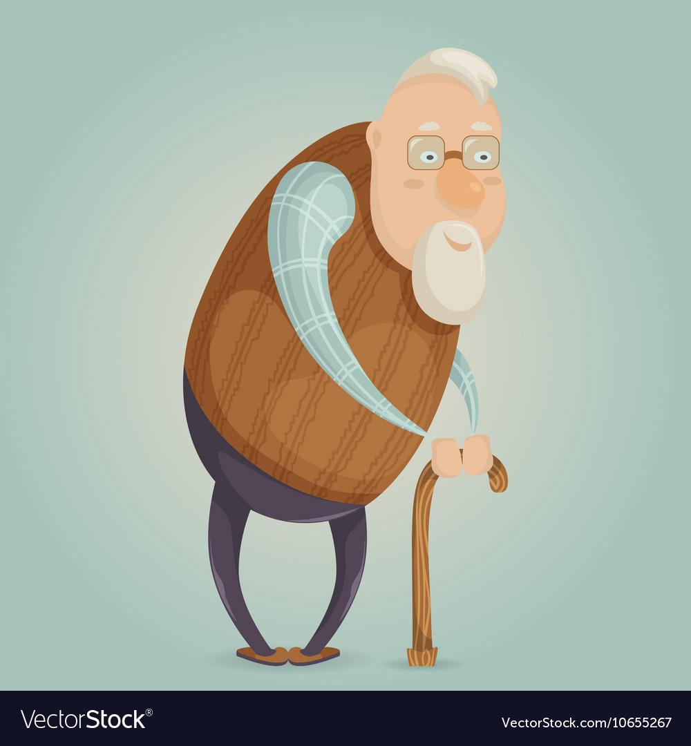 old man cartoon character royalty free vector image