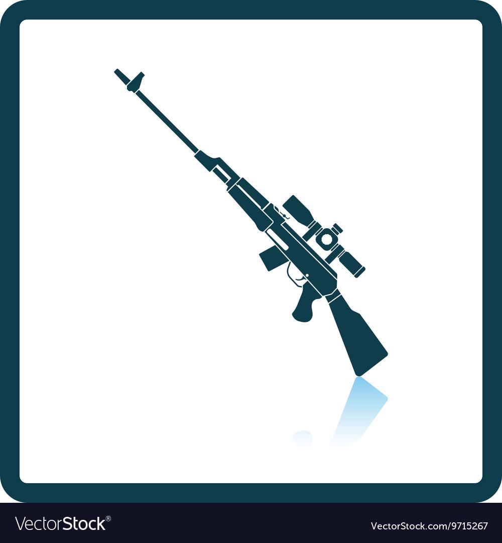 Sniper rifle icon vector image