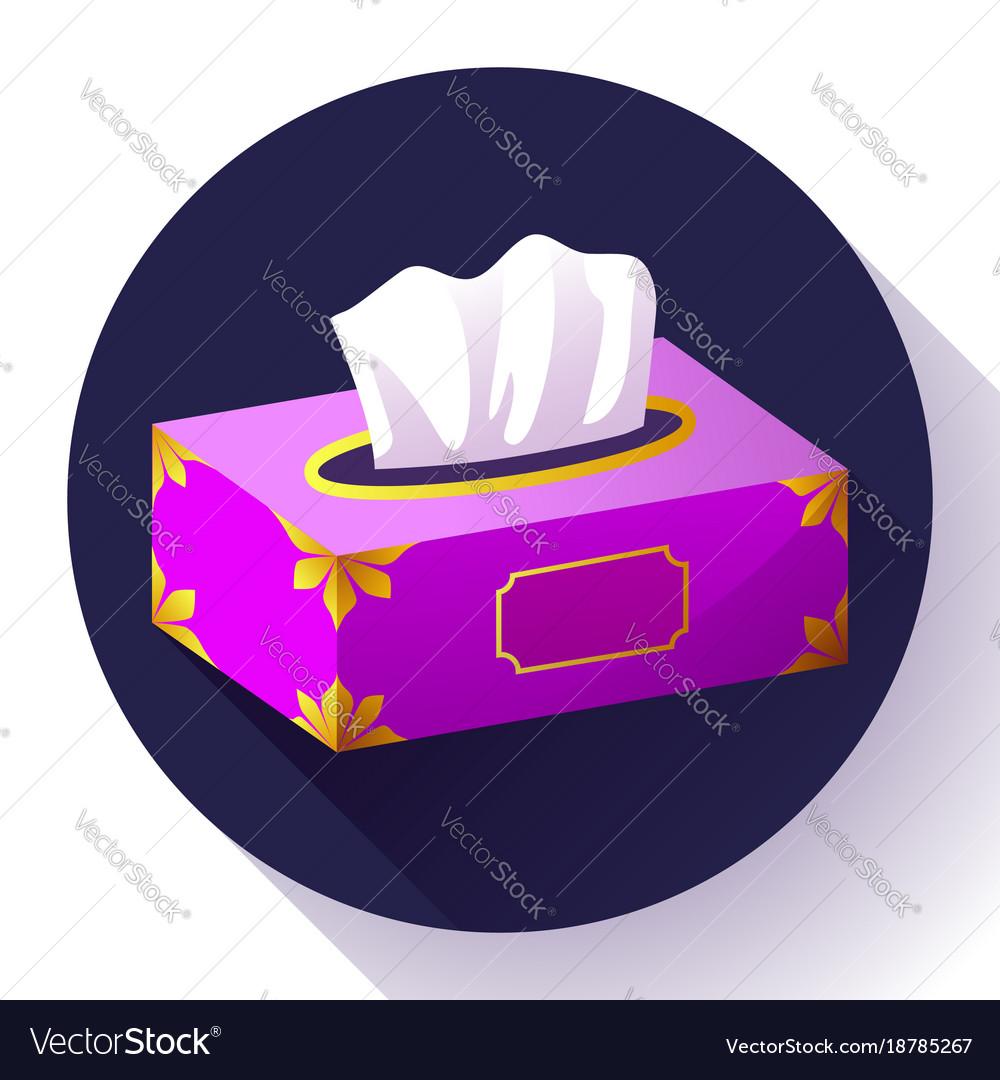 Tissue box flat icon vector image
