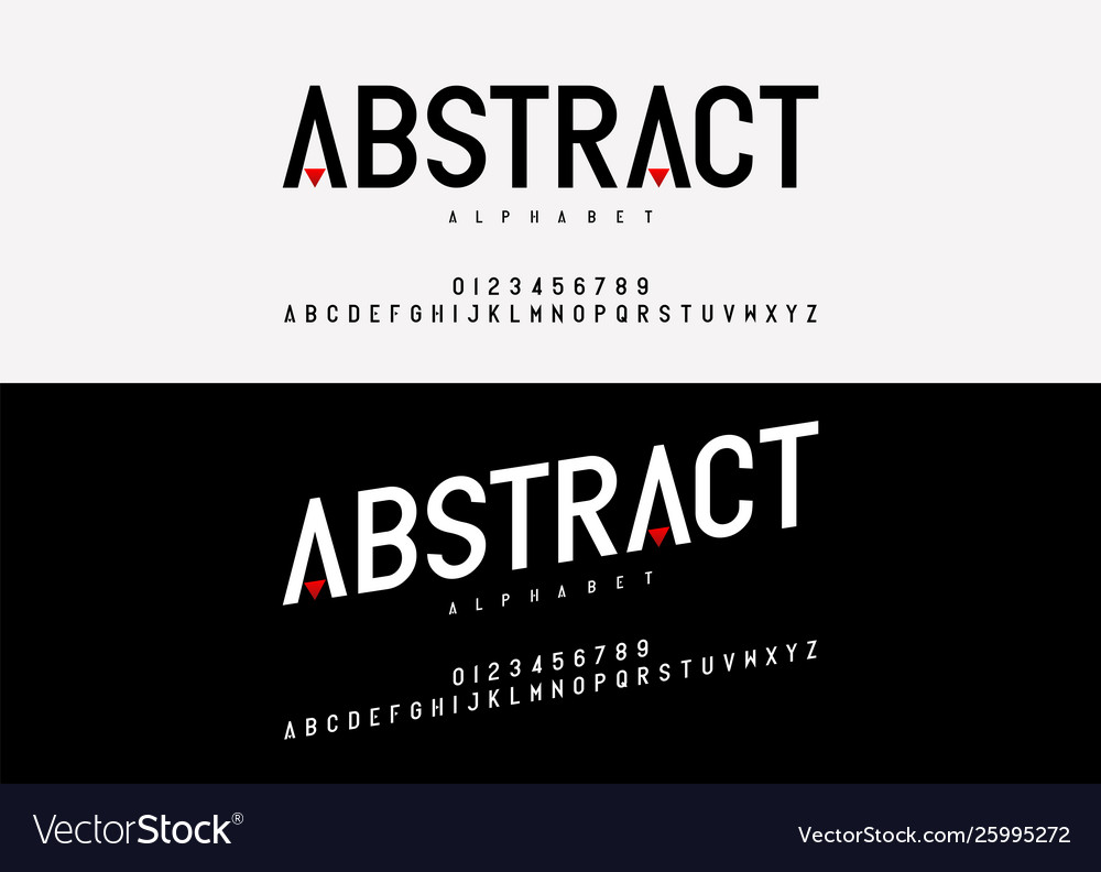 Abstract modern alphabet font typography fonts