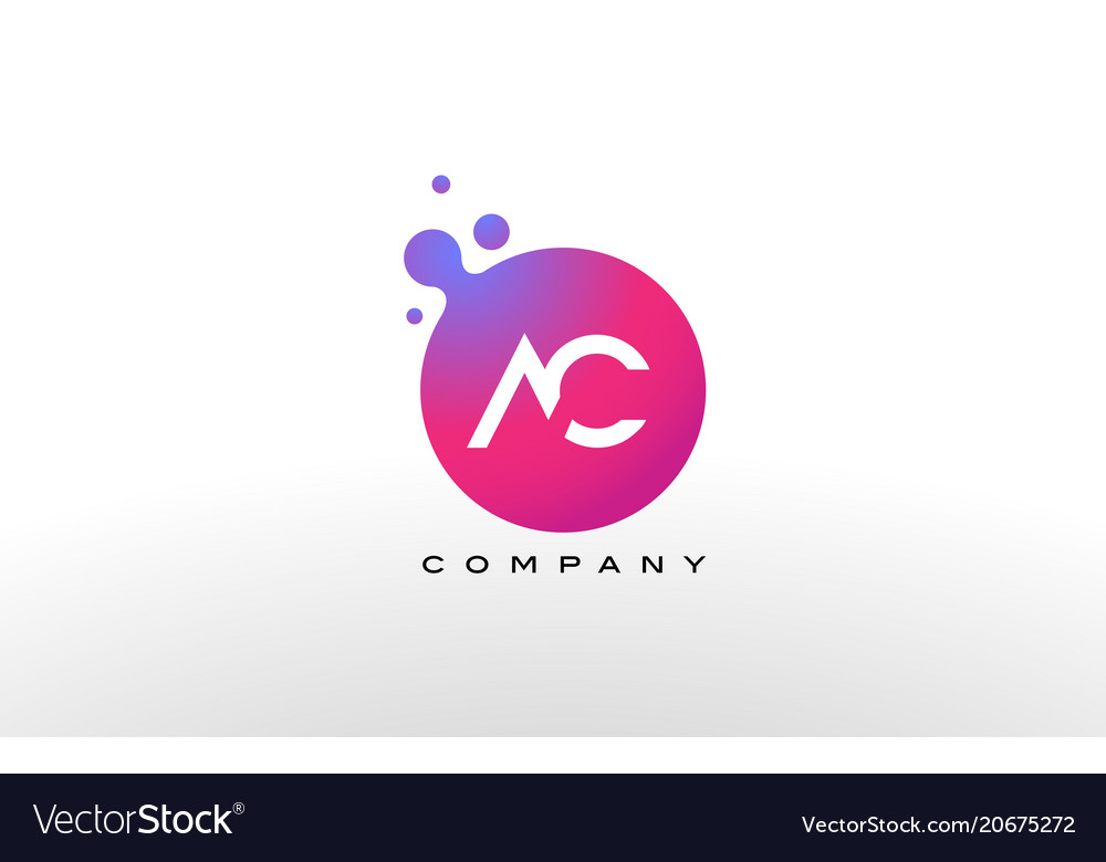 Ac letter dots logo design with creative trendy vector image