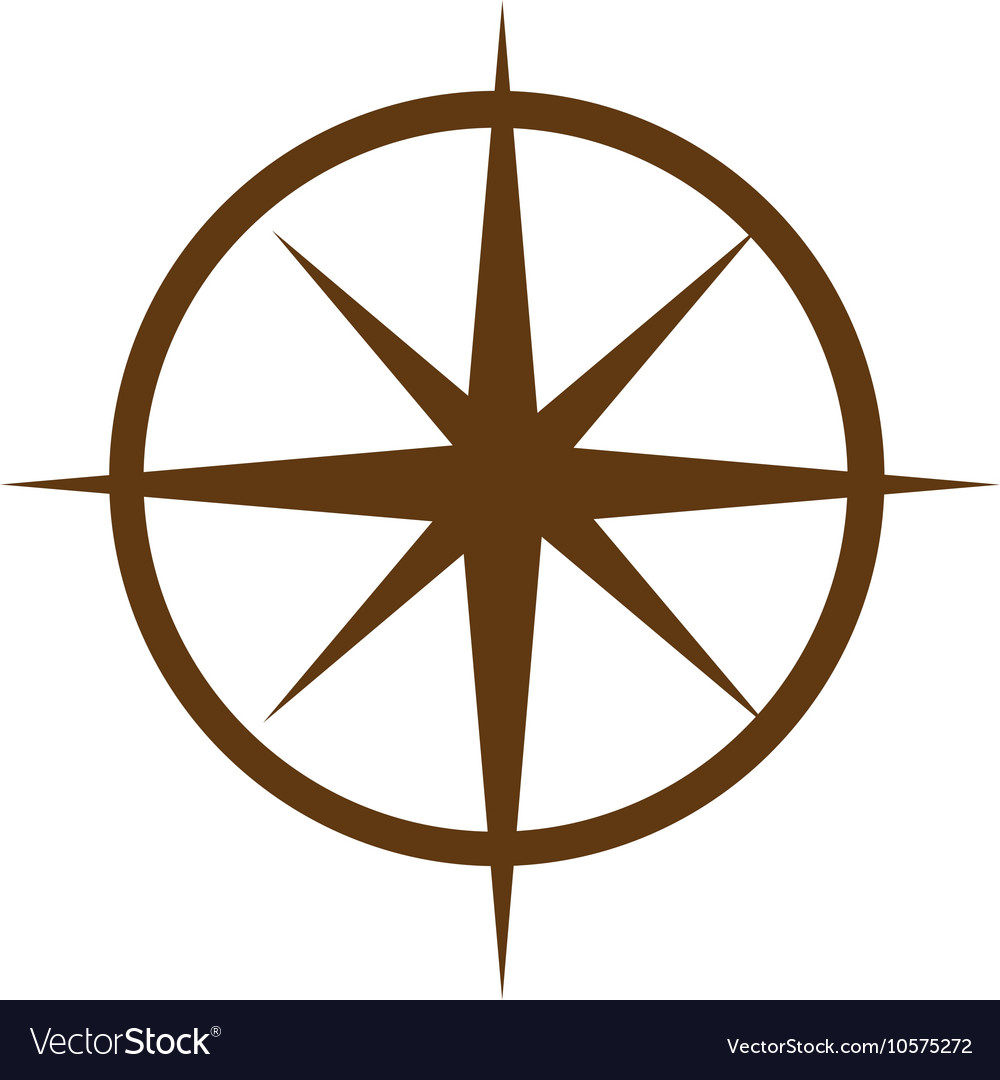 Compass guide equipment isolated icon