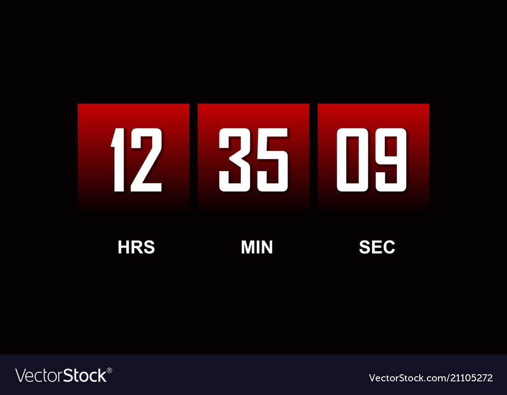 countdown template royalty free vector image vectorstock