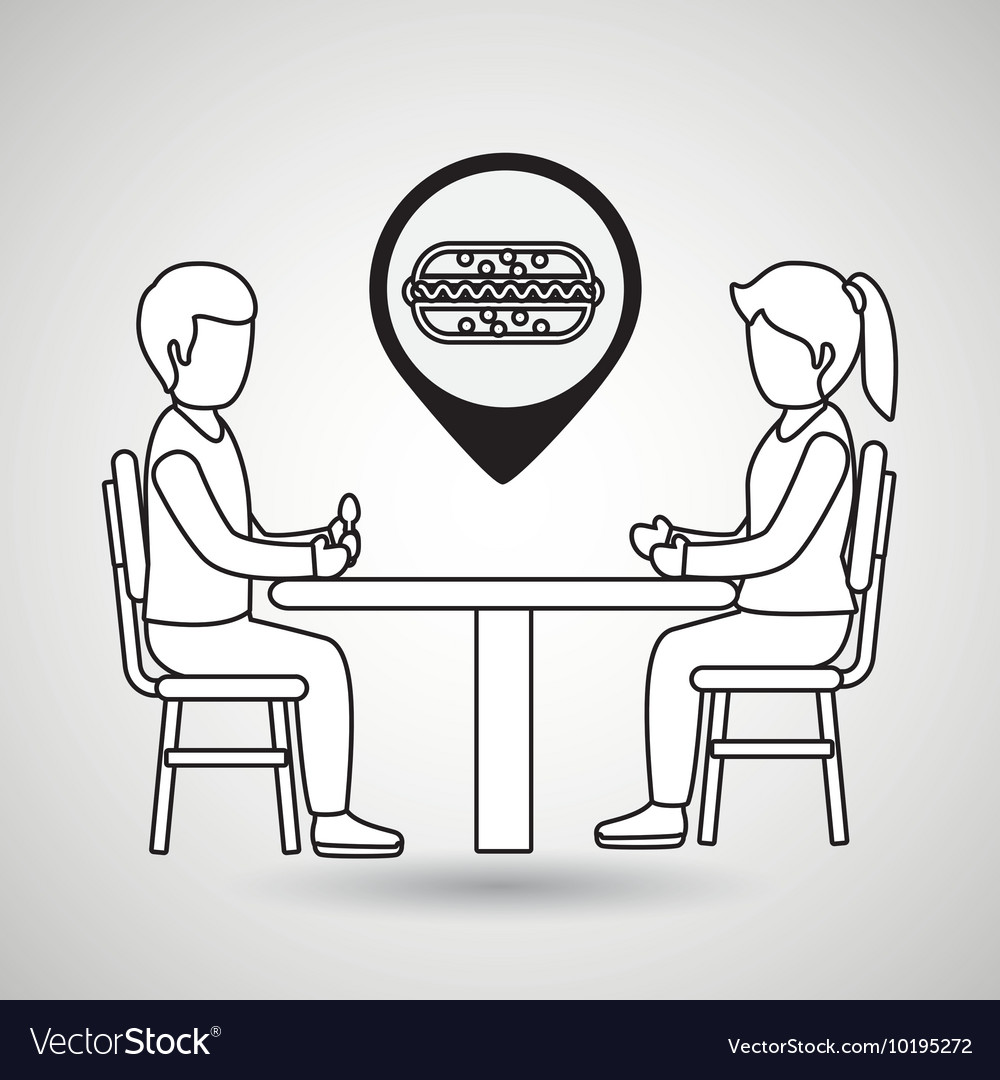 Couple sitting dinner