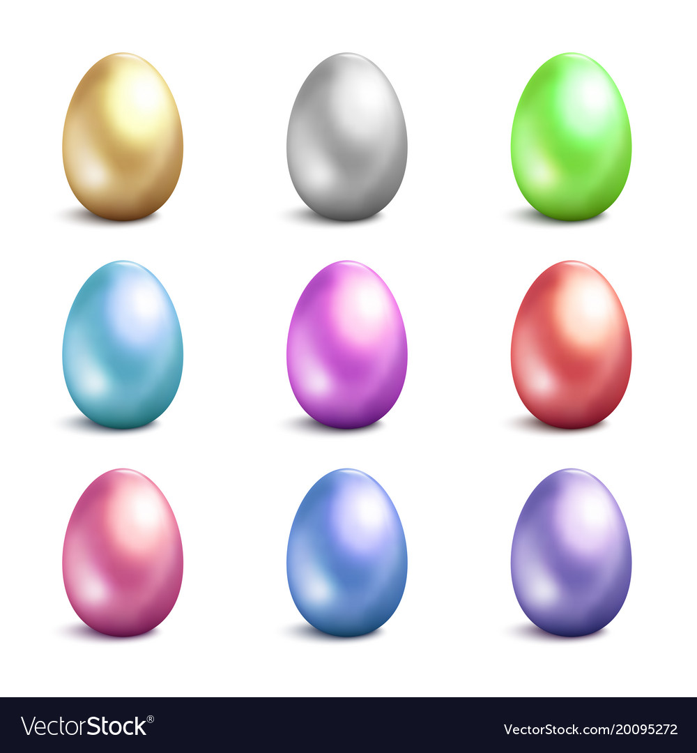 Easter eggs icons easter eggs isolated