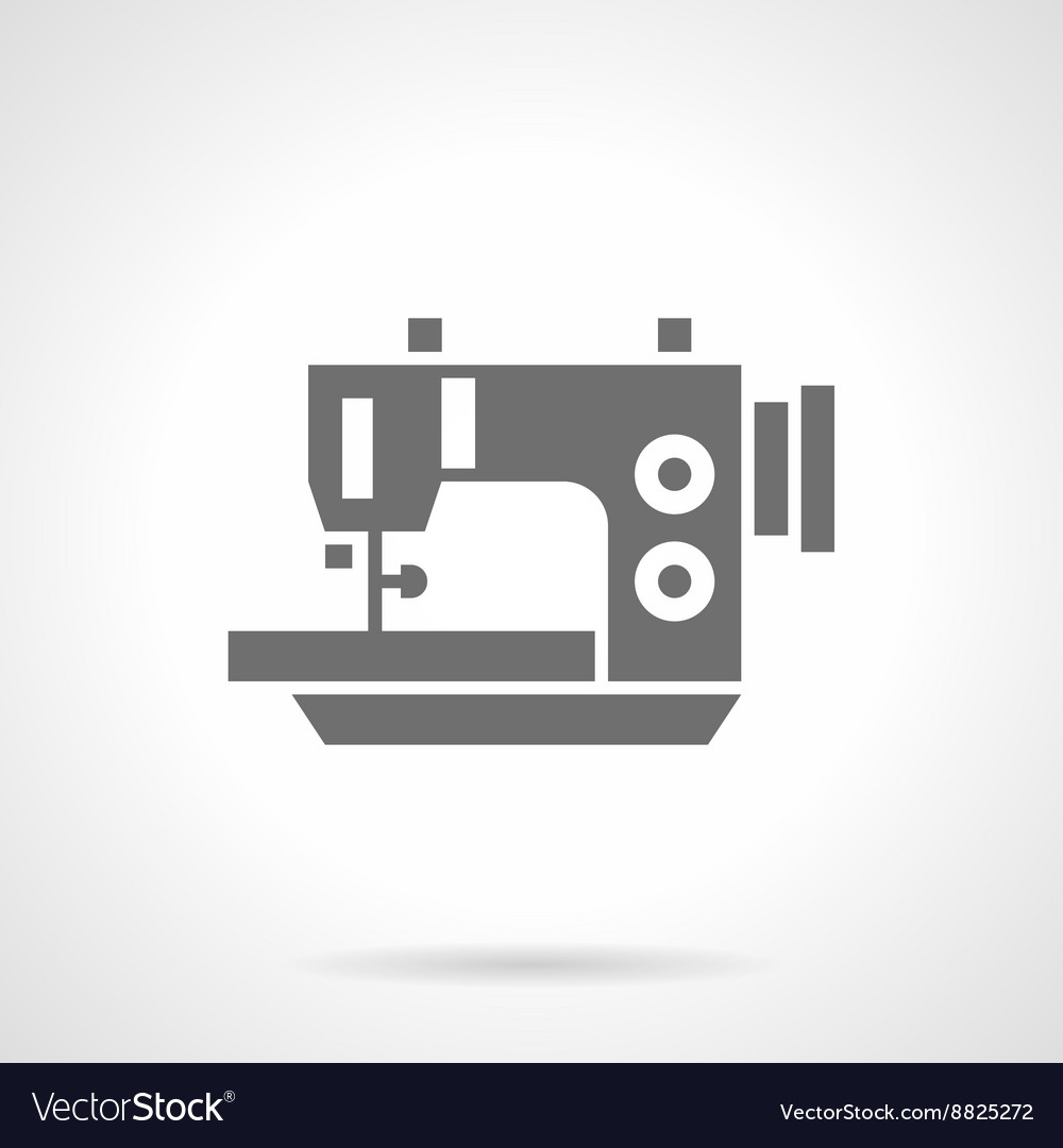 Electric sewing machine black glyph icon vector image