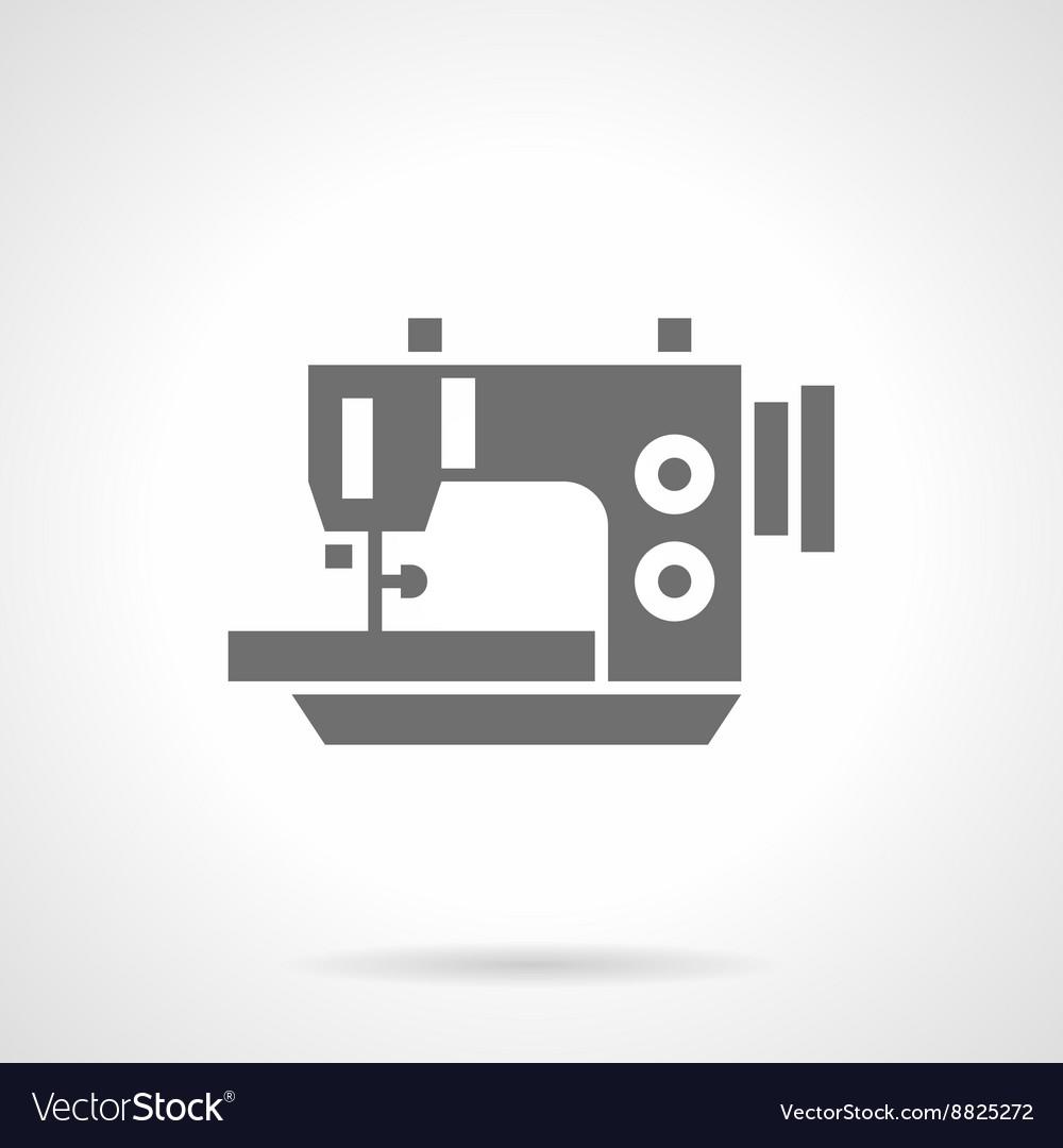 Electric sewing machine black glyph icon