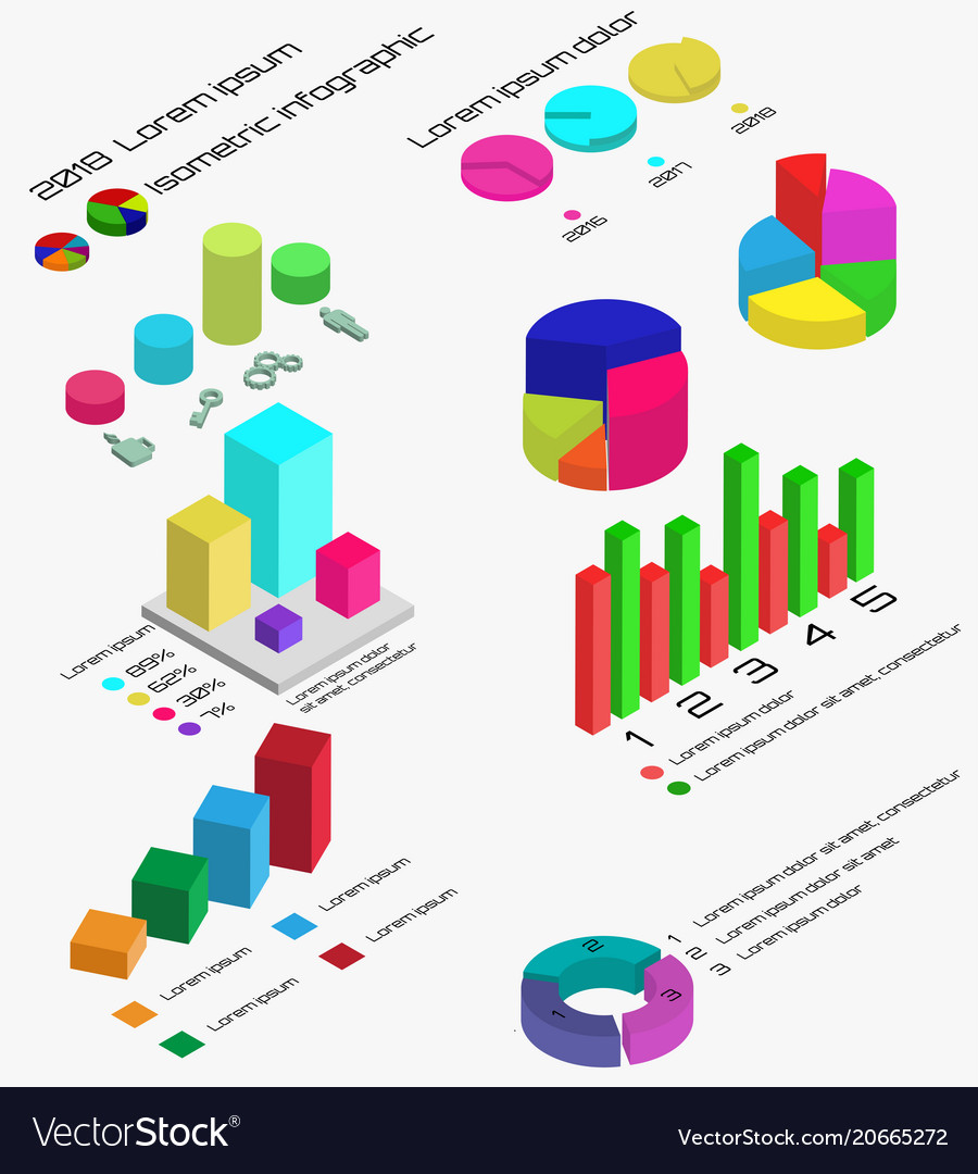 Flat 3d isometric infographic isometric 3d busine