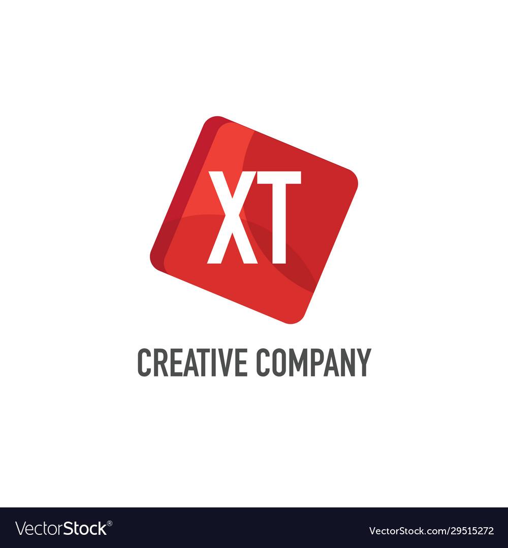 Initial letter xt logo template design