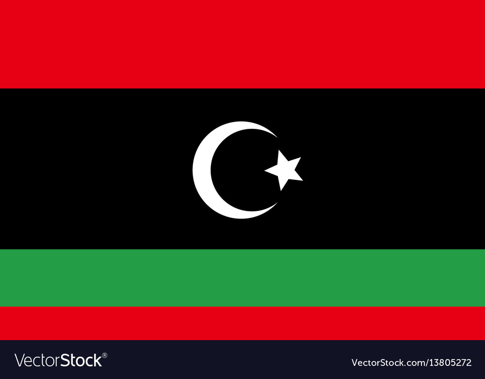 Libya flag for independence day and infographic vector image