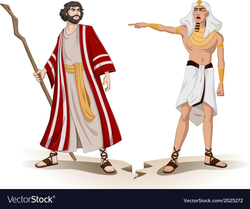Pharaoh Sends Moses Away For Passover Royalty Free Vector