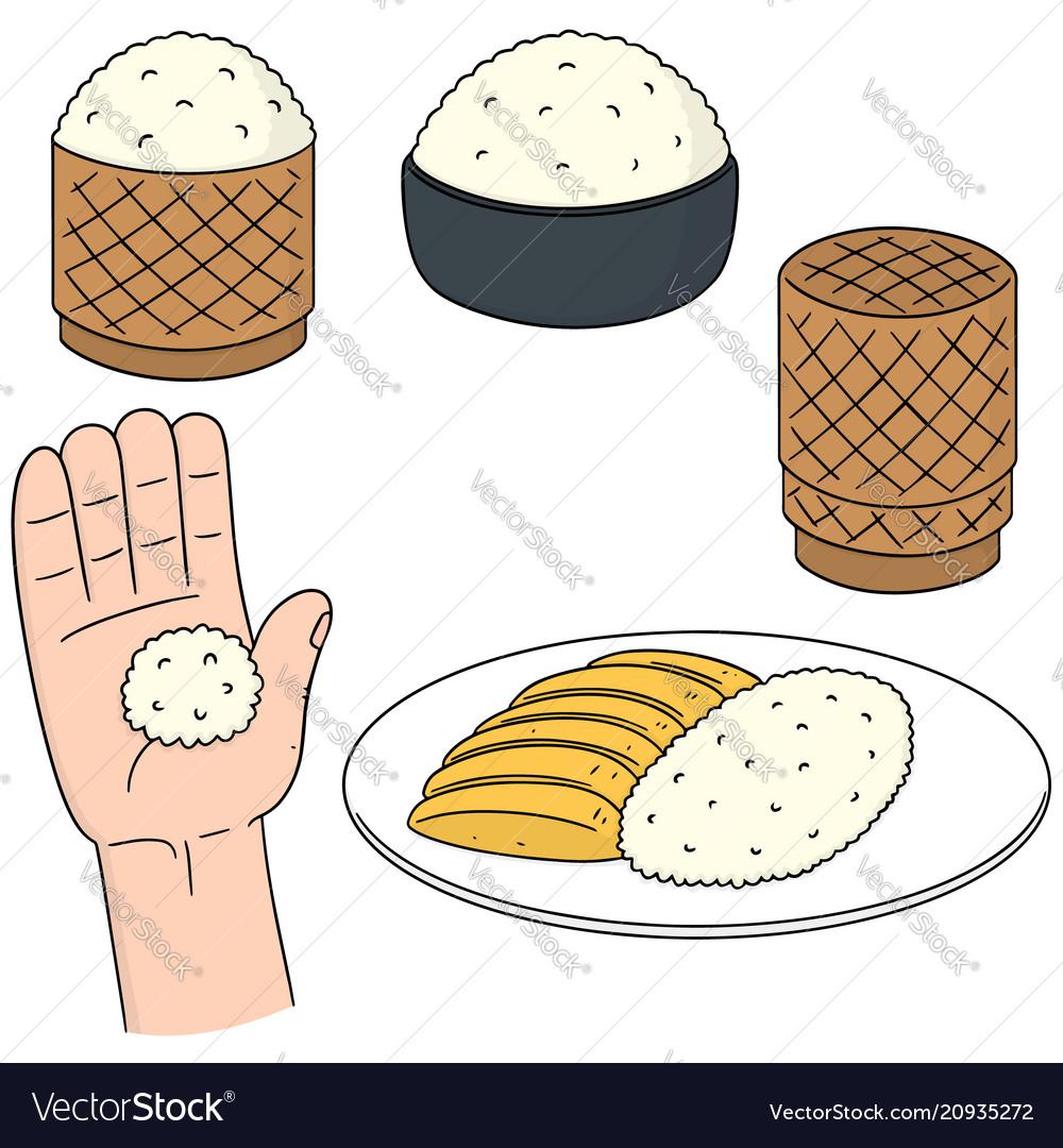Set of sticky rice