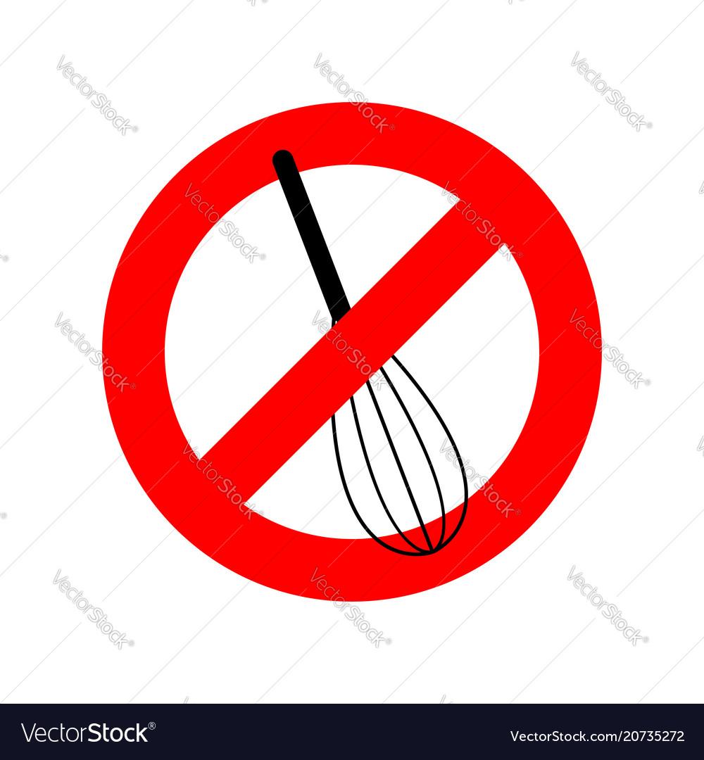 Stop corolla kitchen utensils do not beat red