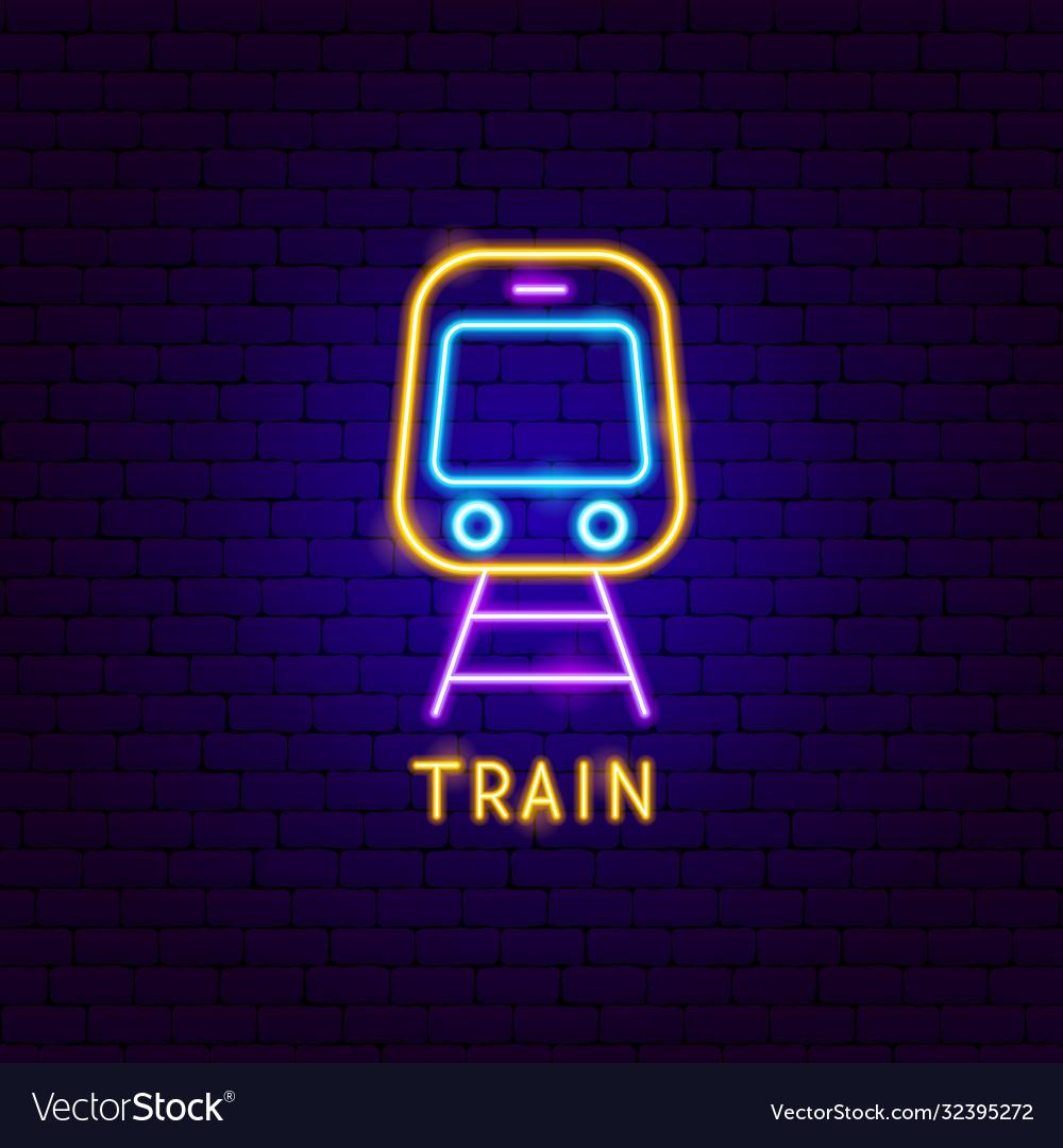 Train neon label