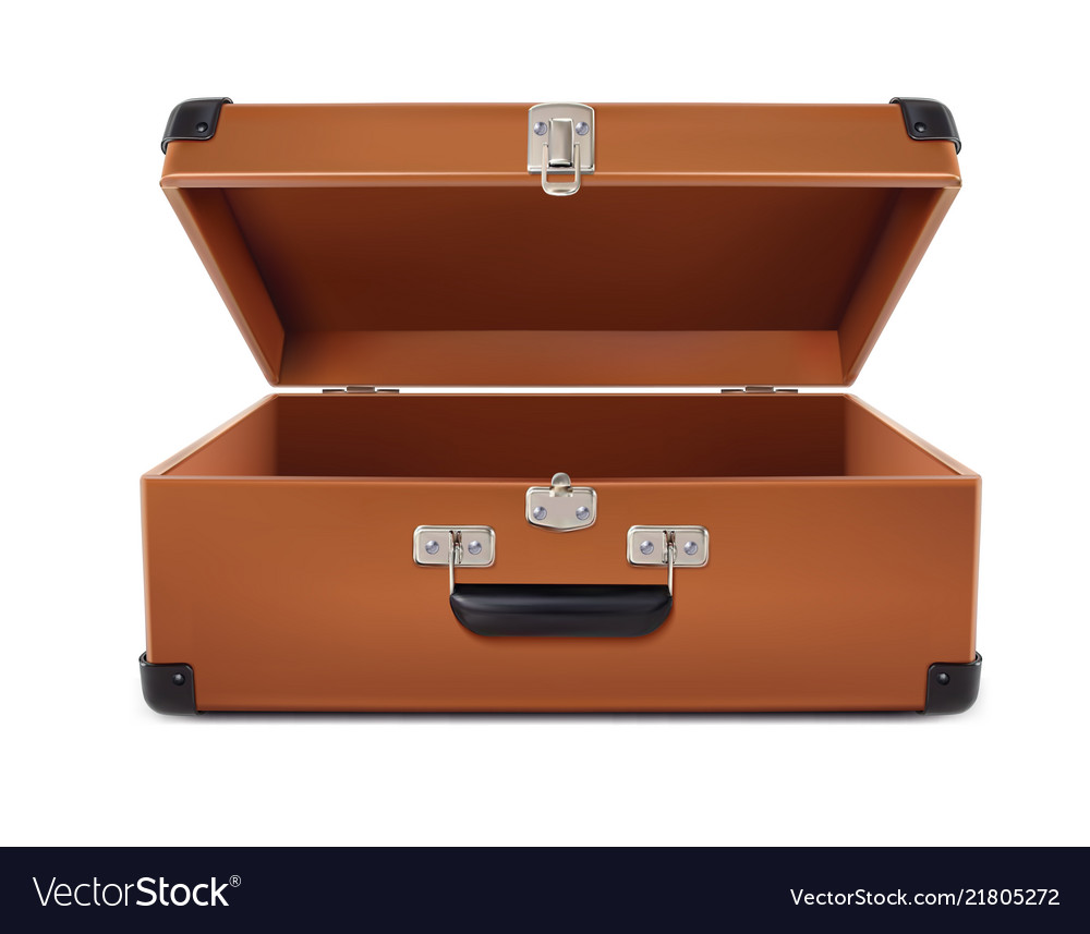 Travel open suitcase 3d