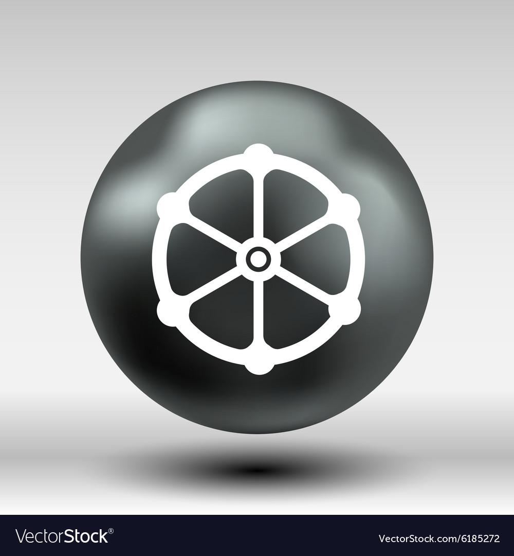 Valve icon button logo symbol concept