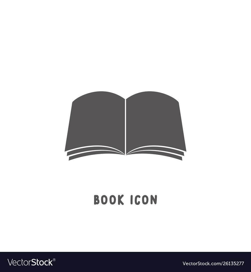 Book icon simple flat style