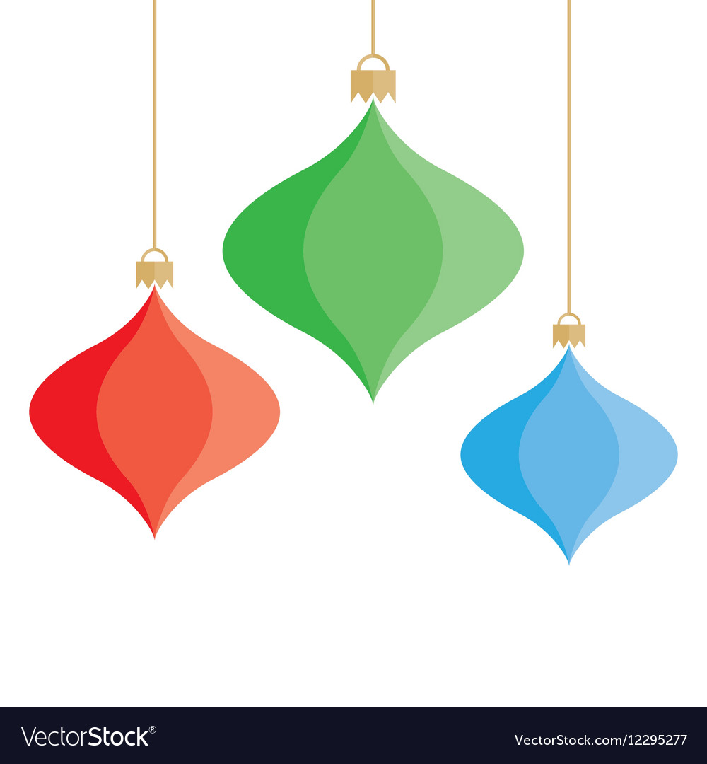Christmas colorful baubles background