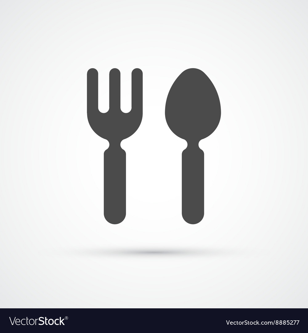 Cutlery fork and spoon trendy icon