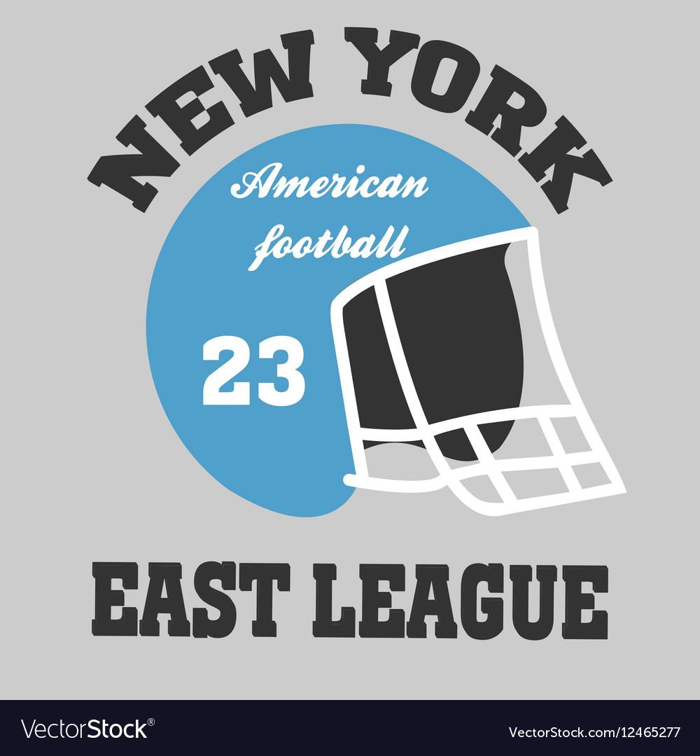 Football t-shirt ny vector image
