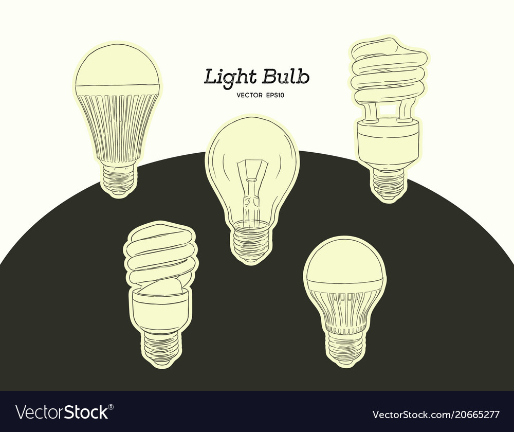 Hand drawn of the light bulb