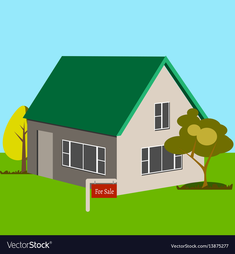 House for sale icon vector image